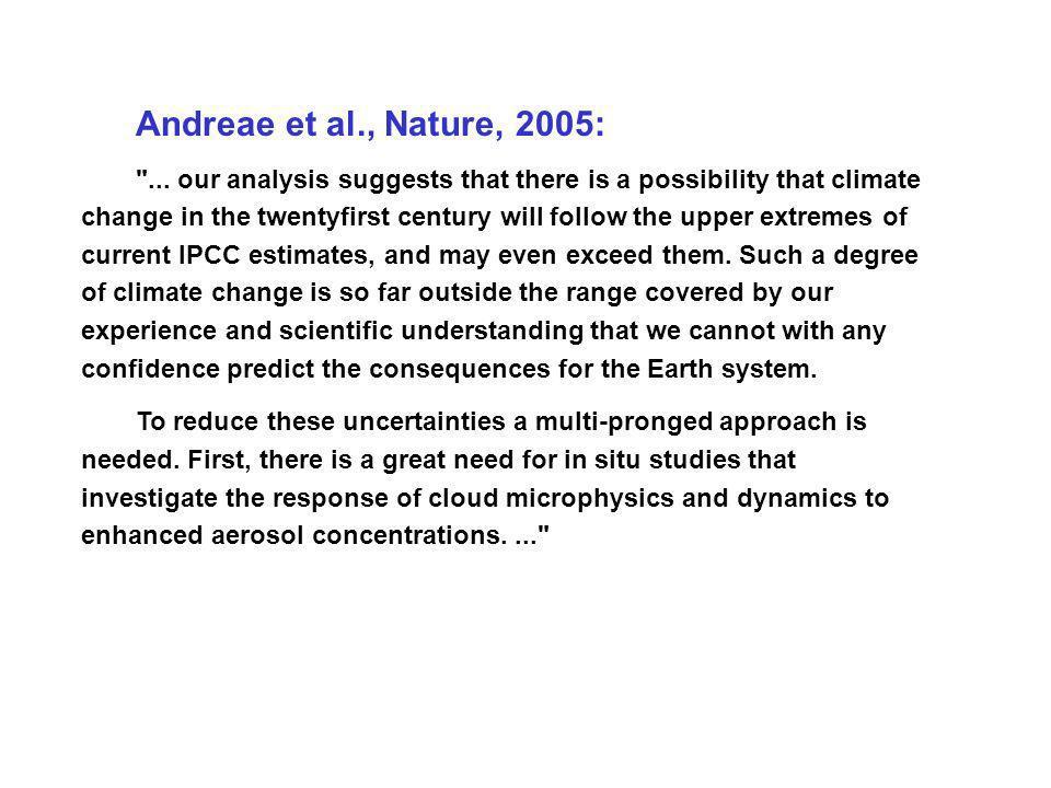 Andreae et al., Nature, 2005: