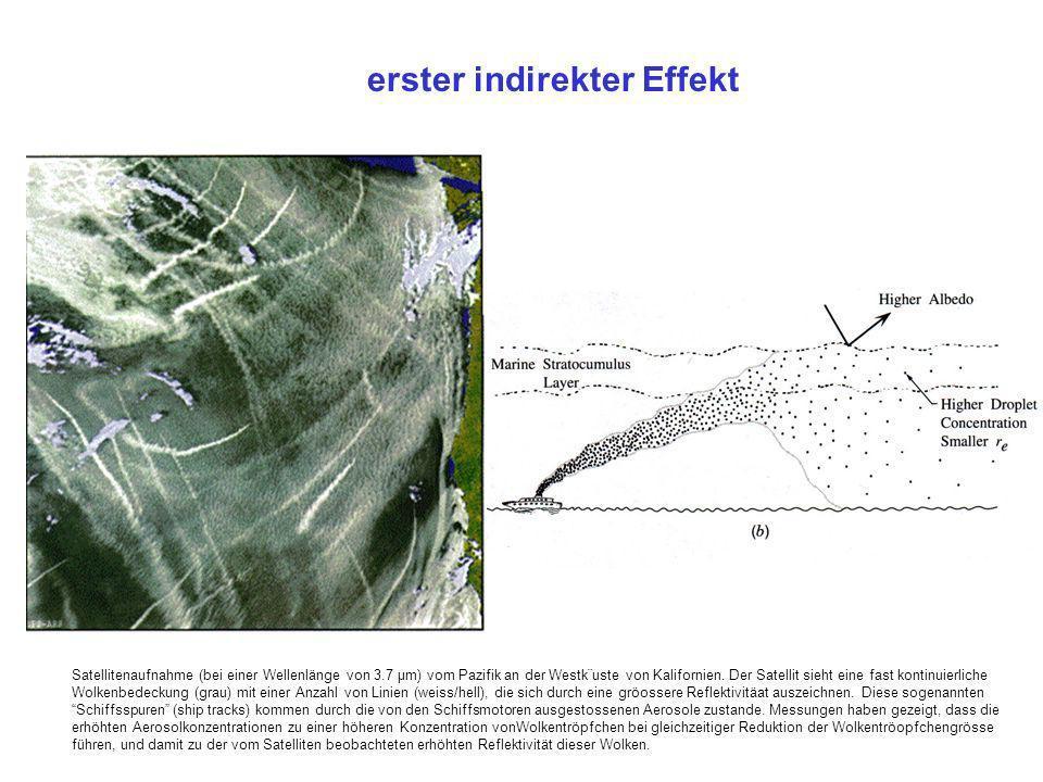 Satellitenaufnahme (bei einer Wellenlänge von 3.7 µm) vom Pazifik an der Westk¨uste von Kalifornien. Der Satellit sieht eine fast kontinuierliche Wolk