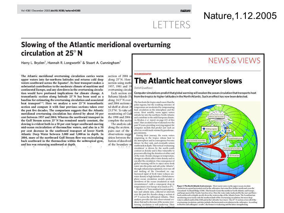 Hurrikane an Orten, die bisher nicht als hurrikangefährdet galten: z.B.: Hurrikan Catarina, März 2004 Hurrikan Vince und Delta, 2005