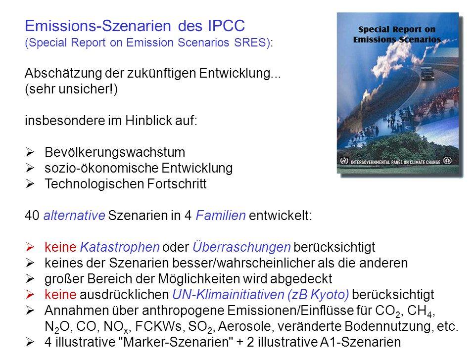 Rückkopplungsmechanismen erschweren Modellierung... [IPCC 2001]