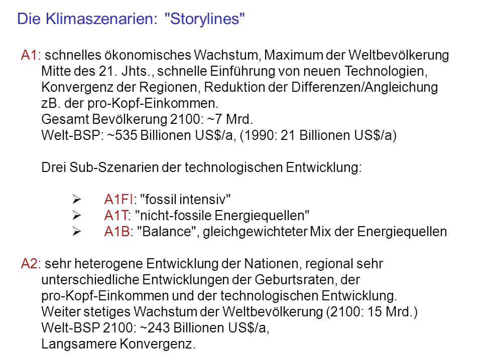 B1: ähnlich A1, aber schnelle Entwicklung zur globalen Dienstleistungs- und Informationsgesellschaft.