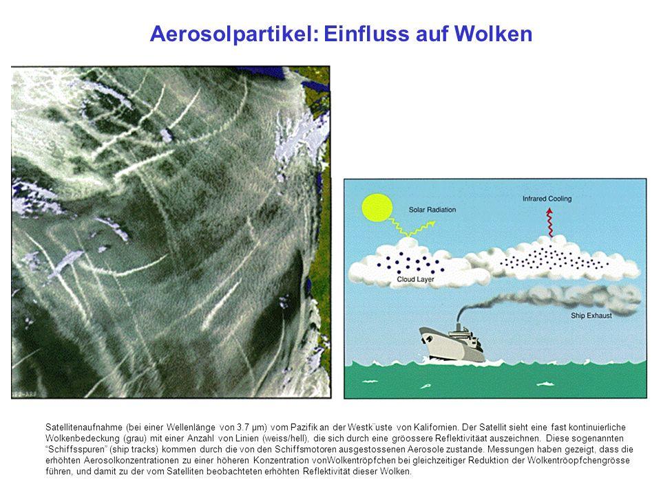 Satellitenaufnahme (bei einer Wellenlänge von 3.7 µm) vom Pazifik an der Westk¨uste von Kalifornien.