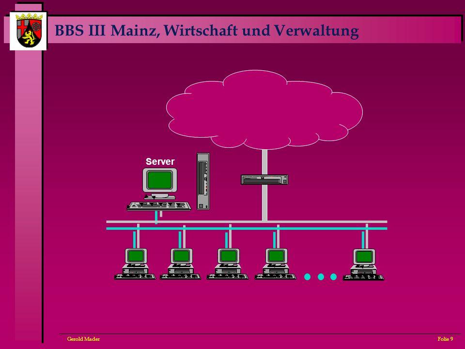 BBS III Mainz, Wirtschaft und Verwaltung Gerold MaderFolie 9 Server