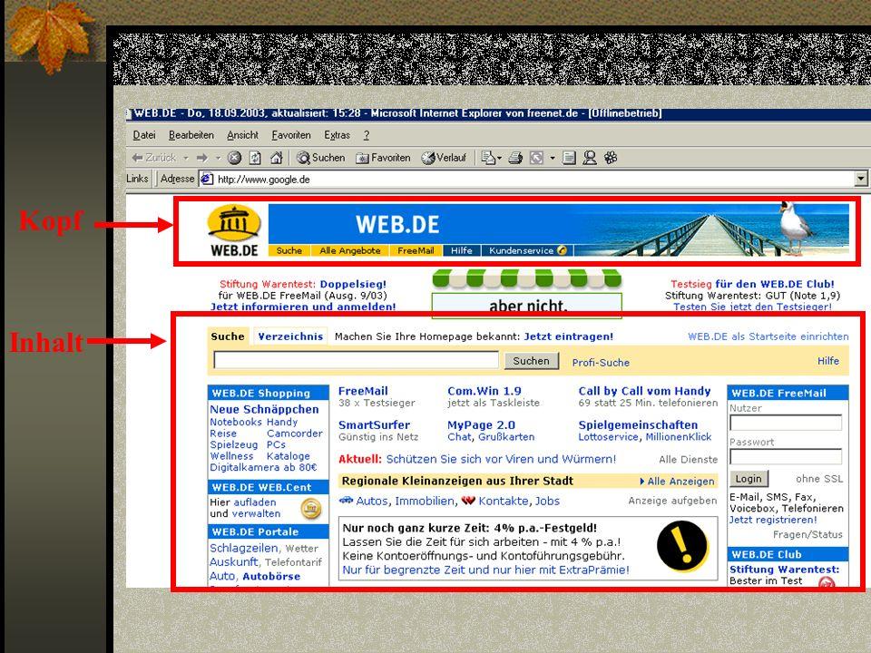 Favoriten Im Ordner Favoriten werden die oft genutzten und die Lieblingsseiten nach Bedarf gespeichert, um schnell auf die Seiten zugreifen zu können.