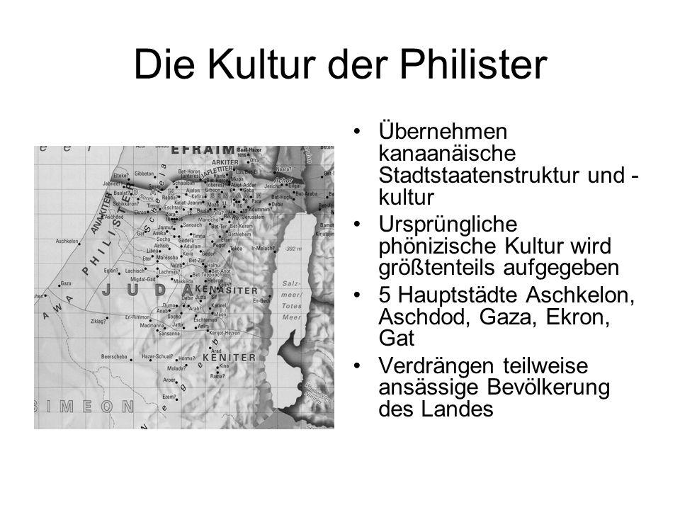 Die Kultur der Philister Übernehmen kanaanäische Stadtstaatenstruktur und - kultur Ursprüngliche phönizische Kultur wird größtenteils aufgegeben 5 Hau