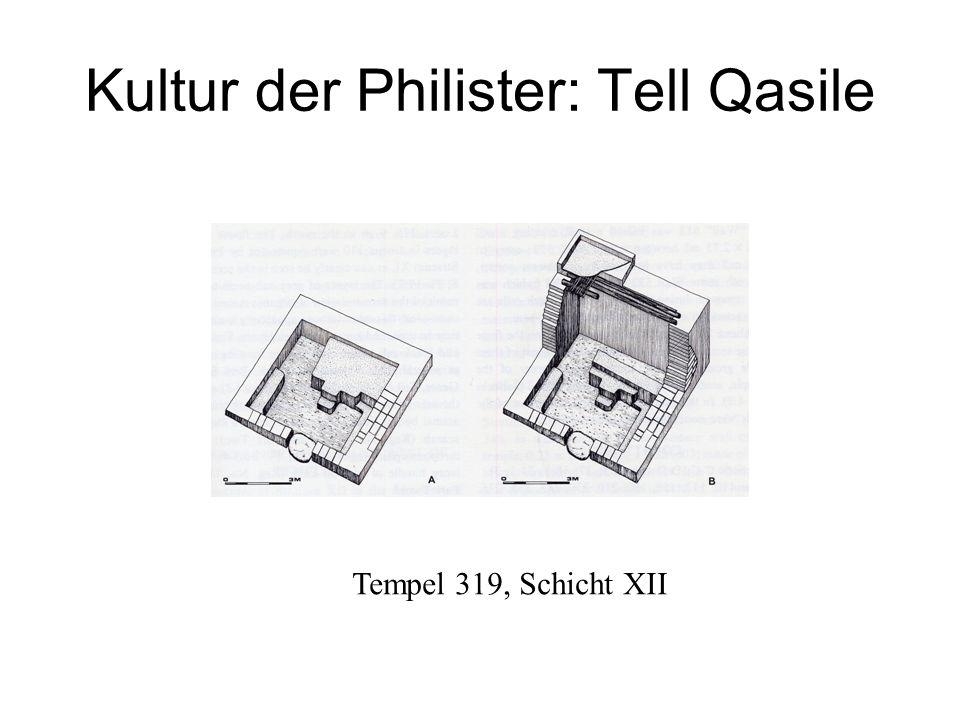 Kultur der Philister: Tell Qasile Tempel 319, Schicht XII