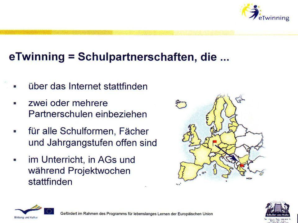 Gefördert im Rahmen des - Programms der Europäischen Kommission Einsatz von IKT-Tools: Jasc Paint Shop Pro 8 (Bildbearbeitung) MS word (Textverarbeitung) Hot Potatoes (Quiz) Pivot ( Animationen) MS PowerPoint (Präsentationen) Digitalkamera (Photos/ Videos) Pinnacle (Videobearbeitung) Internet (Recherche) E-mails (Informationsaustausch) eTwinning website (Twinspace) Homepages (Weihnachtskalender) Lernsoftware (Polnisch für Kinder)