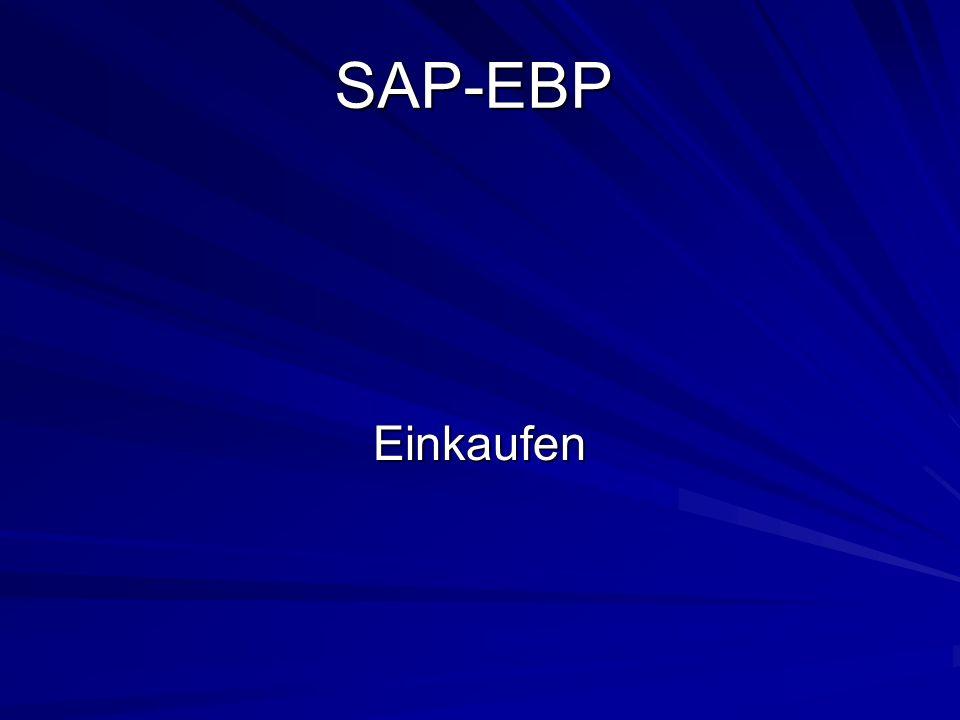 SAP-EBP Einkaufen