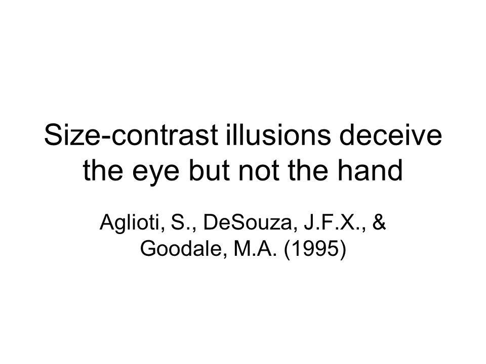 Grasping visual illusions: No evidence for a dissociation between perception and action Franz, V.H., Gegenfurtner, K.R., Bülthoff, H.H.