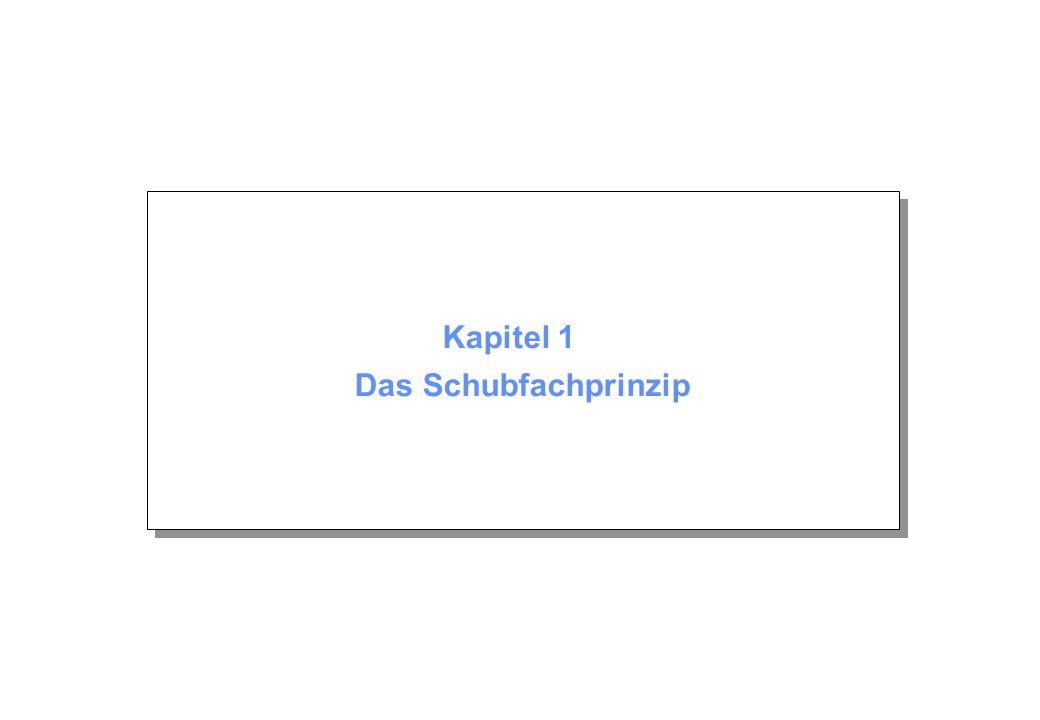 Kapitel 1 © Beutelspacher Oktober 2004 Seite 12 Fallunterscheidung 1.