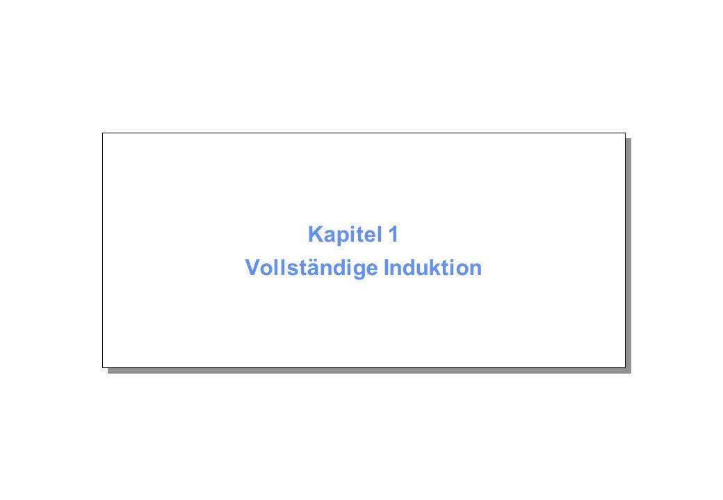 Kapitel 1 © Beutelspacher April 2004 Seite 2 Inhalt 1.1 Das Prinzip A(n) A(n+1) 1.2 Anwendungen 1 + 2 + 3 +...