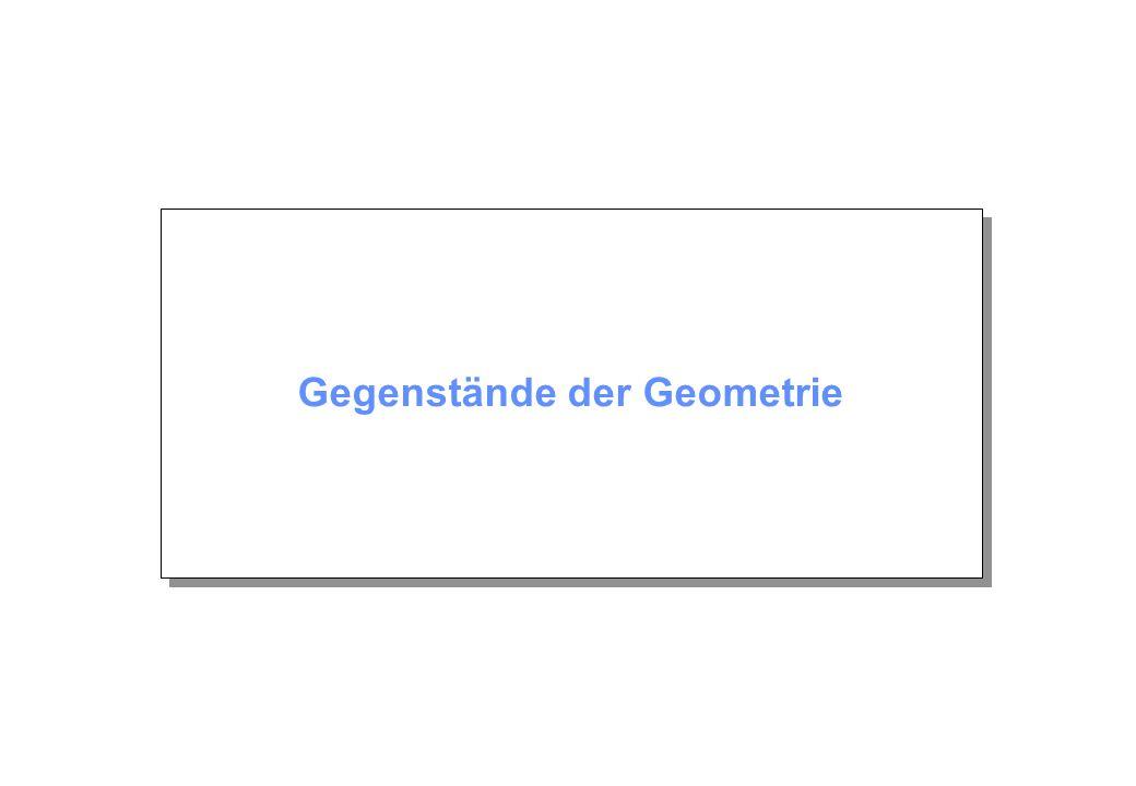 Gegenstände der Geometrie