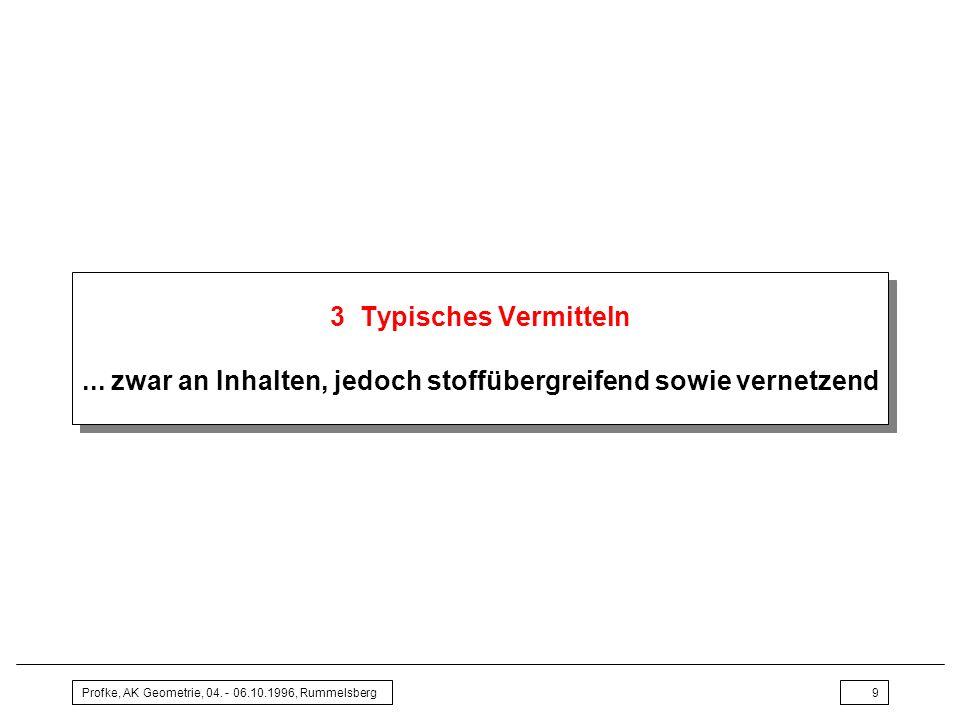 Profke, AK Geometrie, 04.- 06.10.1996, Rummelsberg9 3 Typisches Vermitteln...