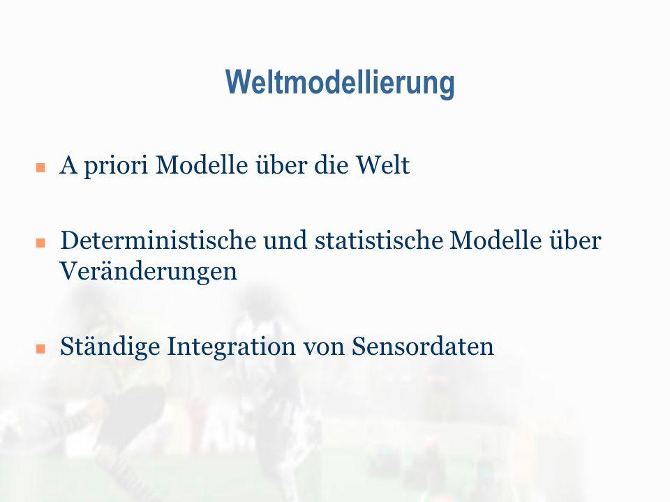 Weltmodellierung A priori Modelle über die Welt Deterministische und statistische Modelle über Veränderungen Ständige Integration von Sensordaten