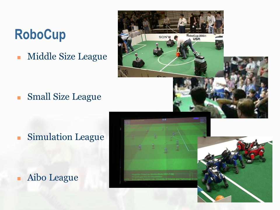 RoboCup Middle Size League Small Size League Simulation League Aibo League