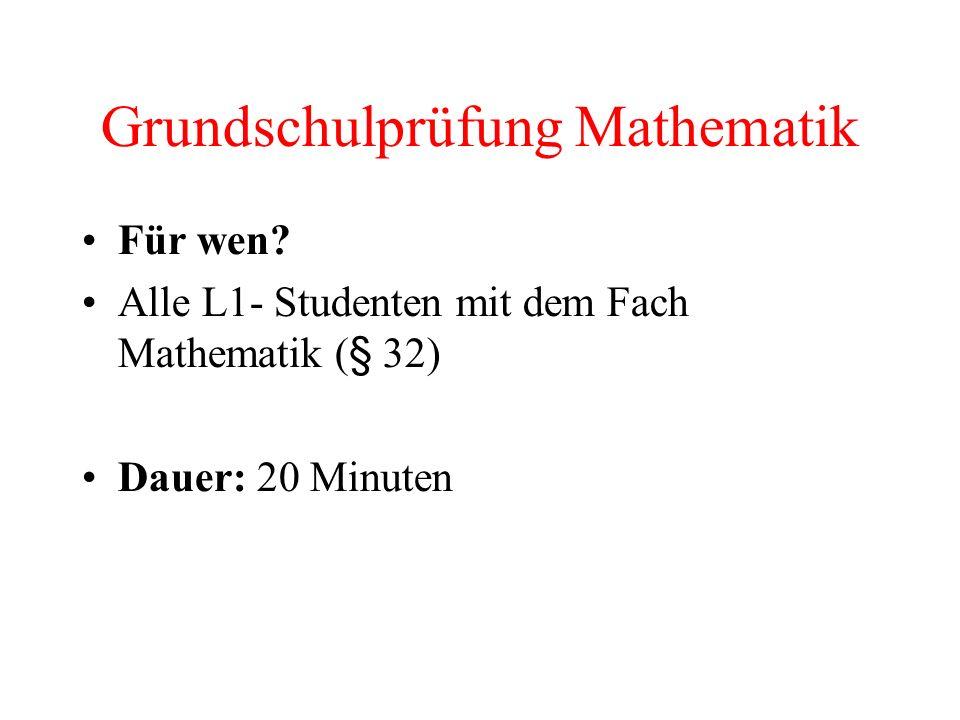 Grundschulprüfung Mathematik Für wen.
