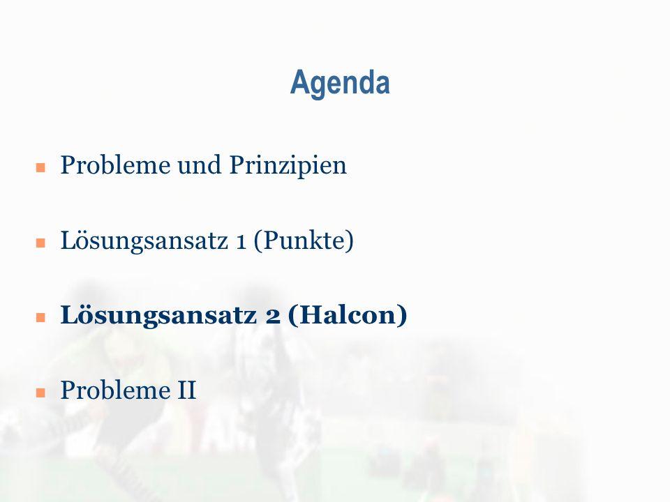 Agenda Probleme und Prinzipien Lösungsansatz 1 (Punkte) Lösungsansatz 2 (Halcon) Probleme II