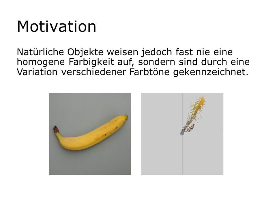 Motivation Natürliche Objekte weisen jedoch fast nie eine homogene Farbigkeit auf, sondern sind durch eine Variation verschiedener Farbtöne gekennzeic