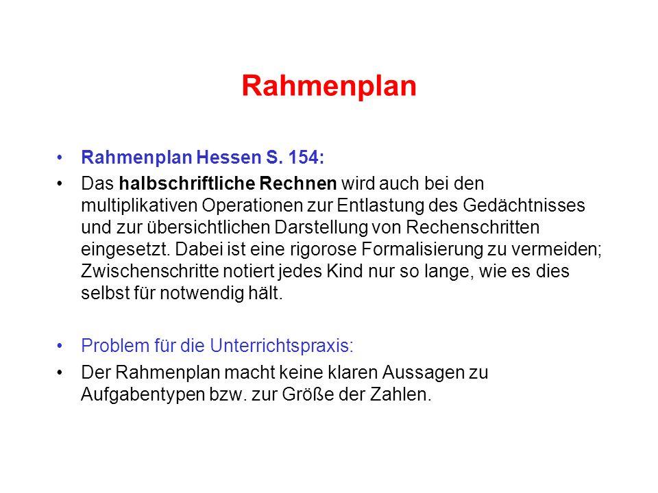 Rahmenplan Rahmenplan Hessen S.