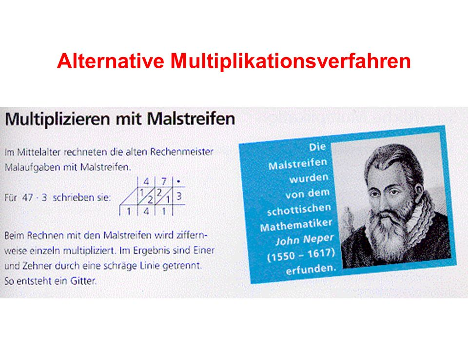 Alternative Multiplikationsverfahren