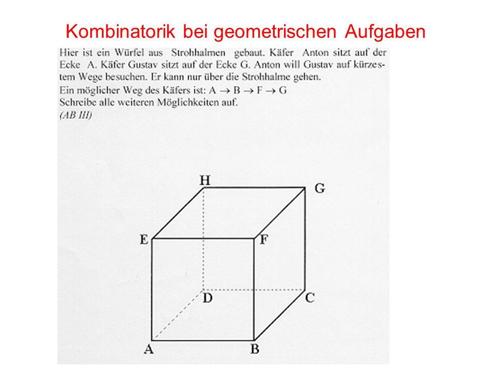 Kombinatorik bei geometrischen Aufgaben