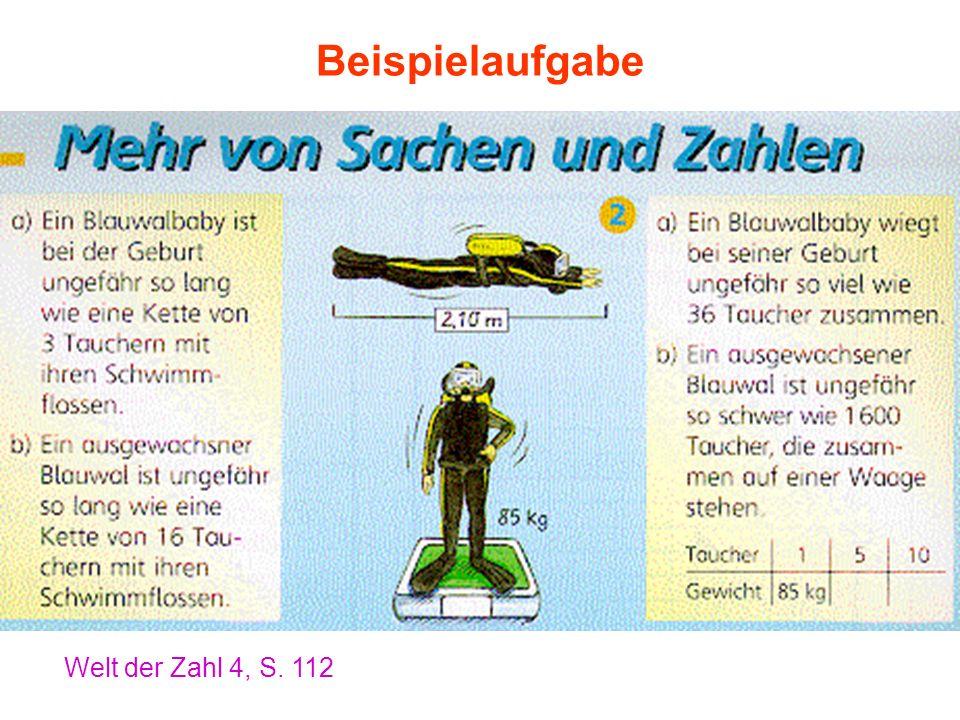 Beispielaufgabe Welt der Zahl 4, S. 112