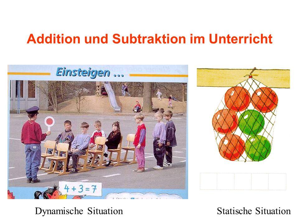 Addition und Subtraktion im Unterricht Dynamische SituationStatische Situation