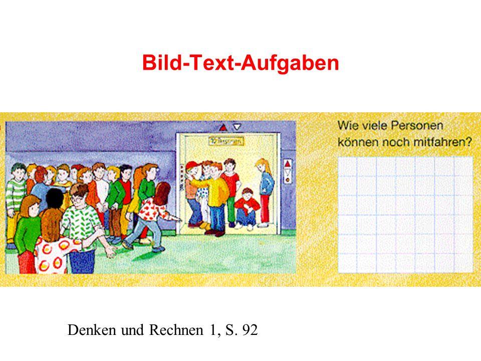 Bild-Text-Aufgaben Denken und Rechnen 1, S. 92