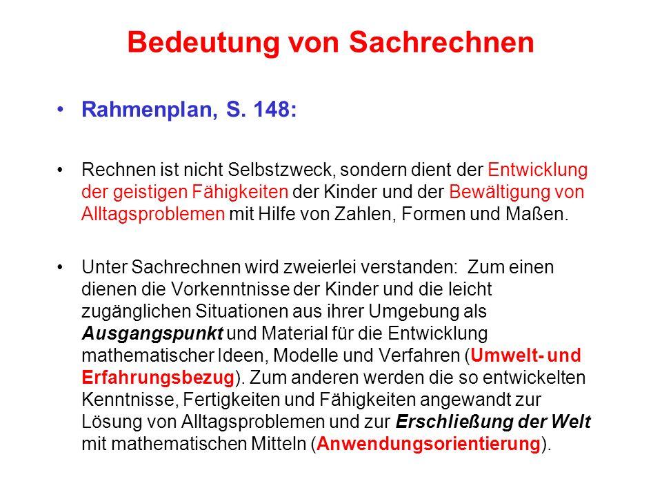 Ziele des Sachrechnens Franke, S.
