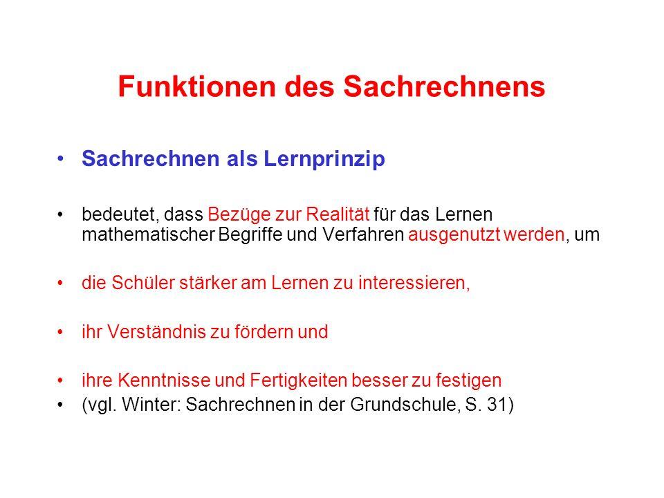 Sachaufgaben mit vorwiegend arithmetischem Inhalt Bei diesen Aufgaben kann man unterscheiden nach der arithmetischen Struktur (Simplex – Komplex) der semantischen Struktur der syntaktischen Struktur (Satzbau, Reihenfolge der Angaben …)