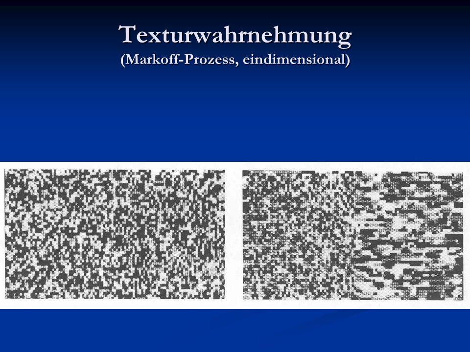 Texturwahrnehmung (Markoff-Prozess, eindimensional)