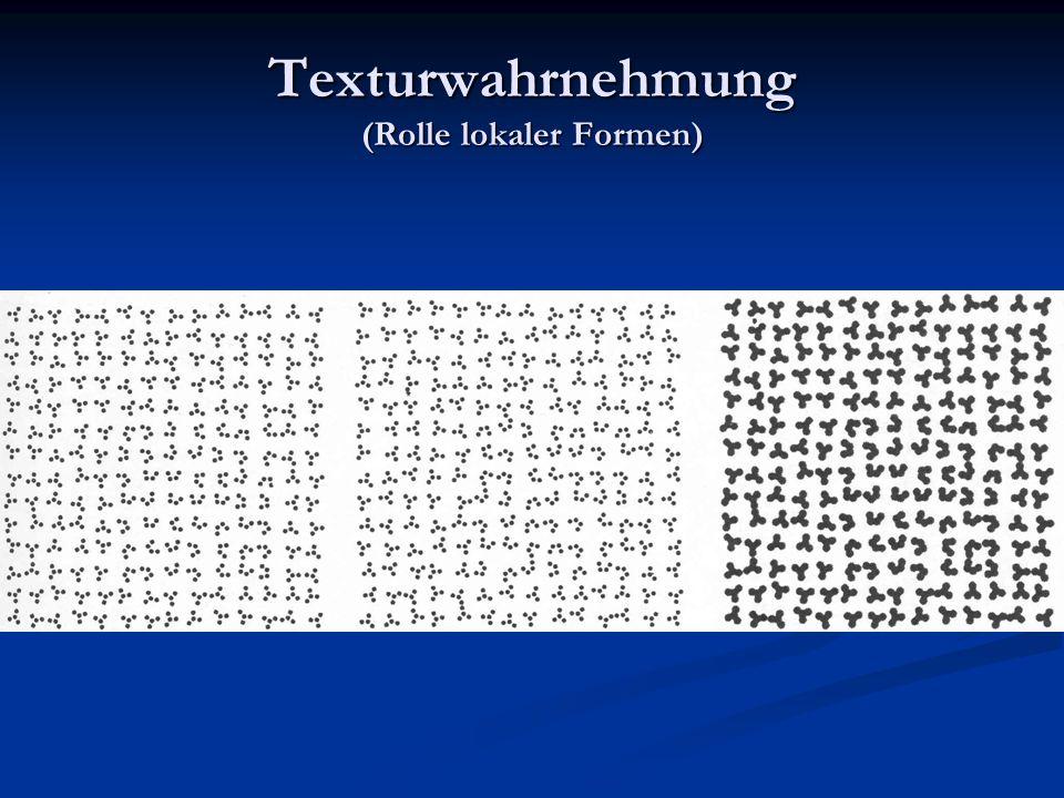 Texturwahrnehmung (Rolle lokaler Formen)