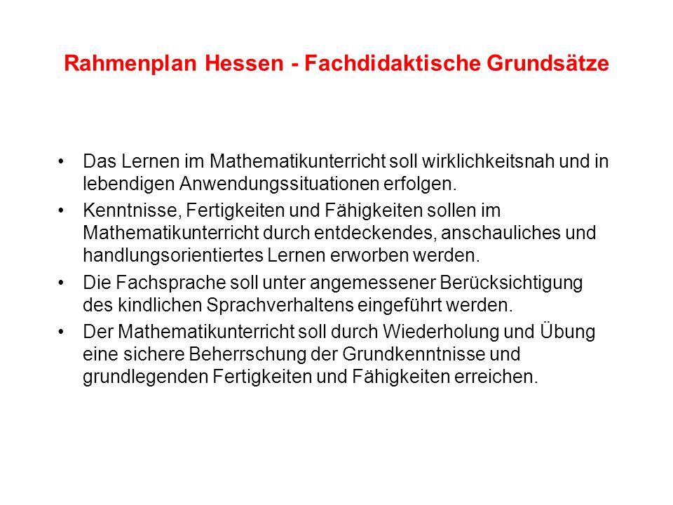 Rahmenplan Hessen - Fachdidaktische Grundsätze Der Lerninhalt wird im Rahmen eines differenzierten Unterrichts auf unterschiedliche Weise präsentiert und auf verschiedenen Lernniveaus angeboten.