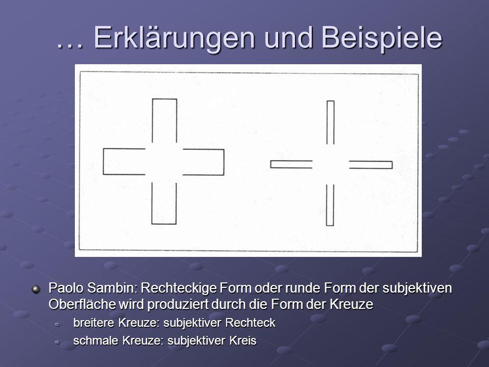 Paolo Sambin: Rechteckige Form oder runde Form der subjektiven Oberfläche wird produziert durch die Form der Kreuze breitere Kreuze: subjektiver Recht