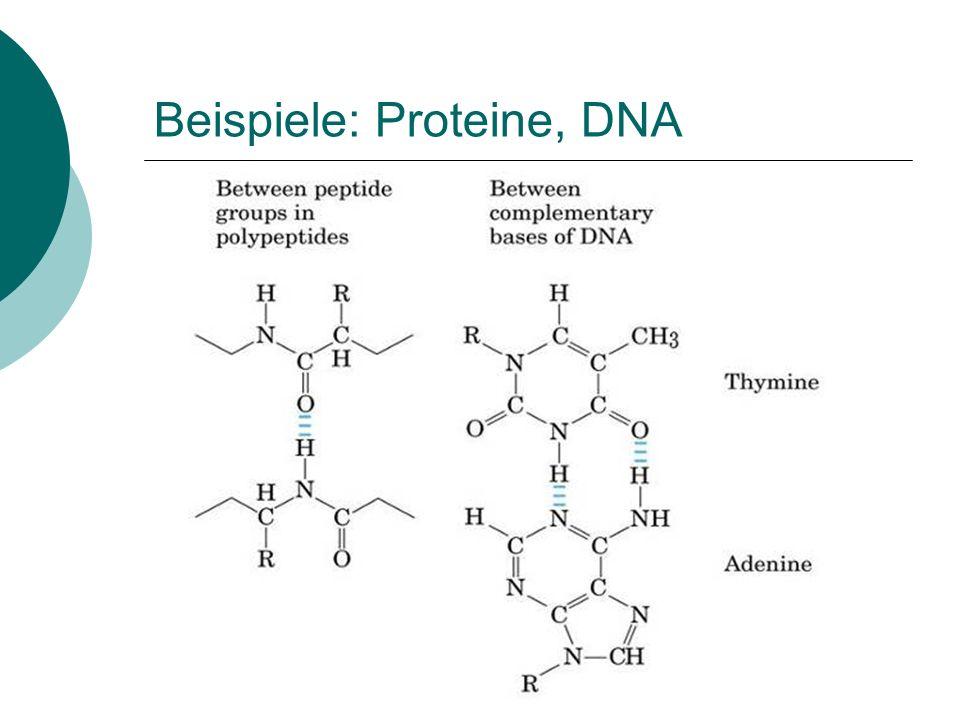 Beispiele: Proteine, DNA