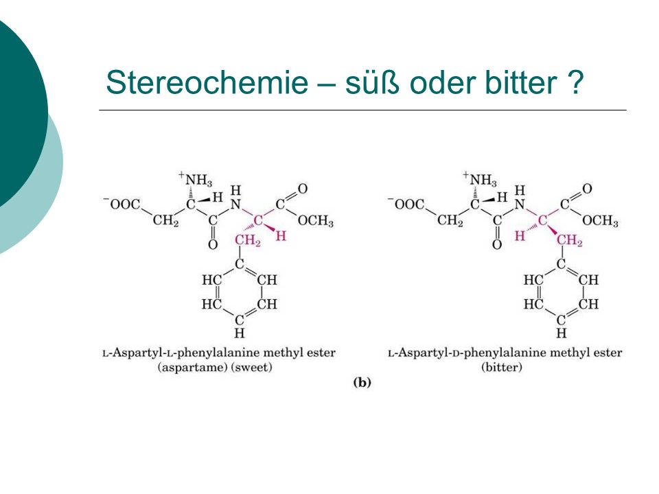 Stereochemie – süß oder bitter ?