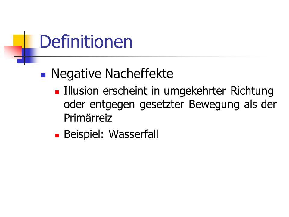 Fragen Nenne drei Beispiele für negative Nacheffekte.