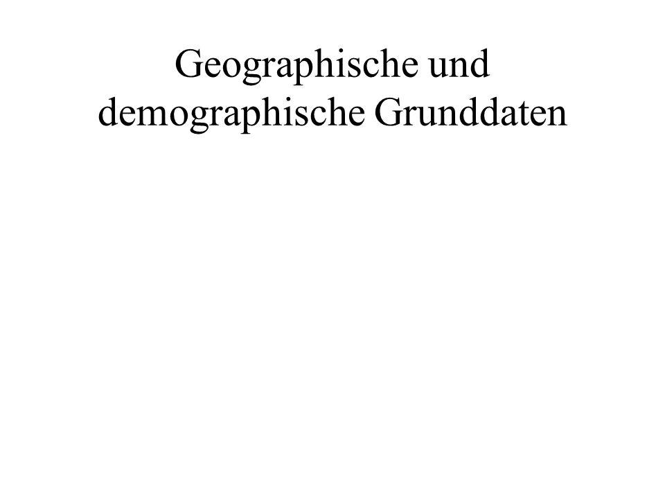 Geographische und demographische Grunddaten