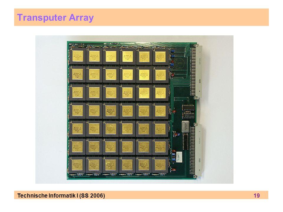 Technische Informatik I (SS 2006) 19 Transputer Array