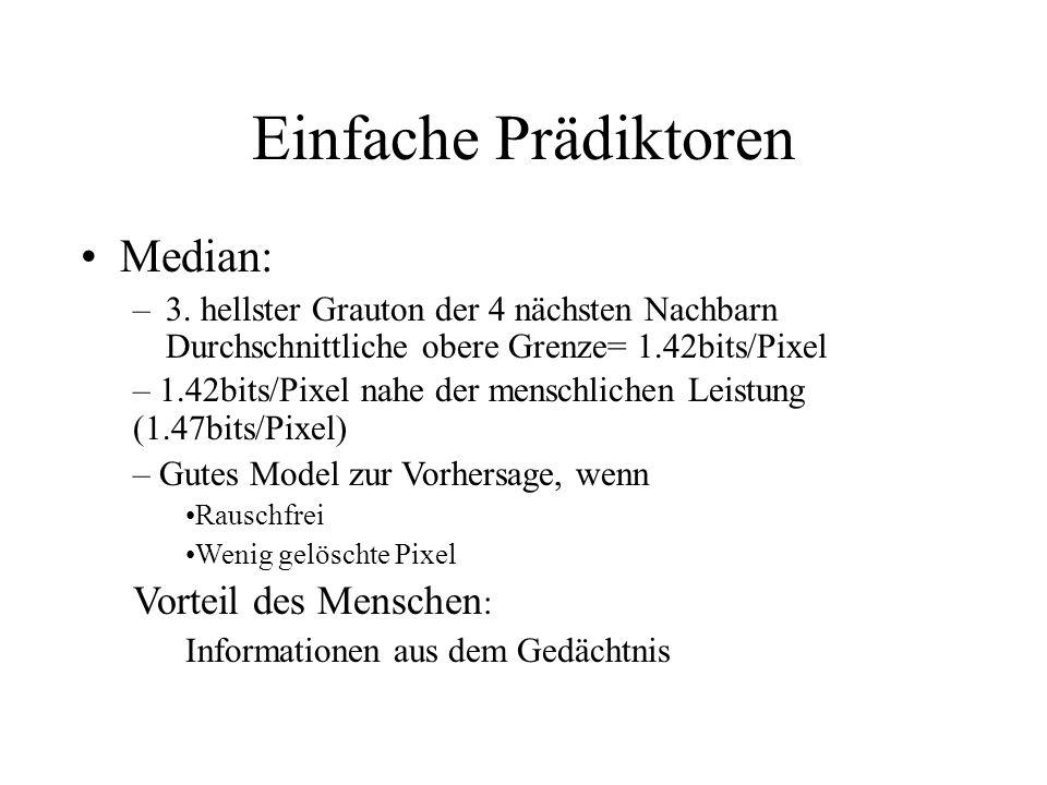 Einfache Prädiktoren Median: –3.