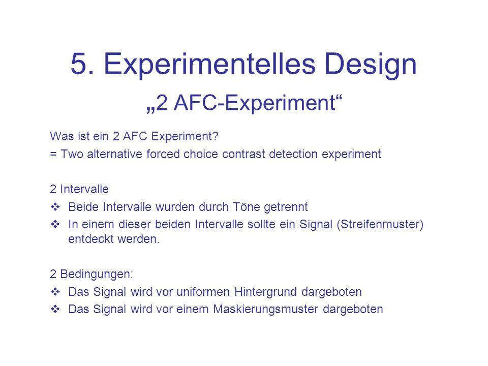 5. Experimentelles Design Maskierung Signal + Mask = Sum Wandell, B. (1995)