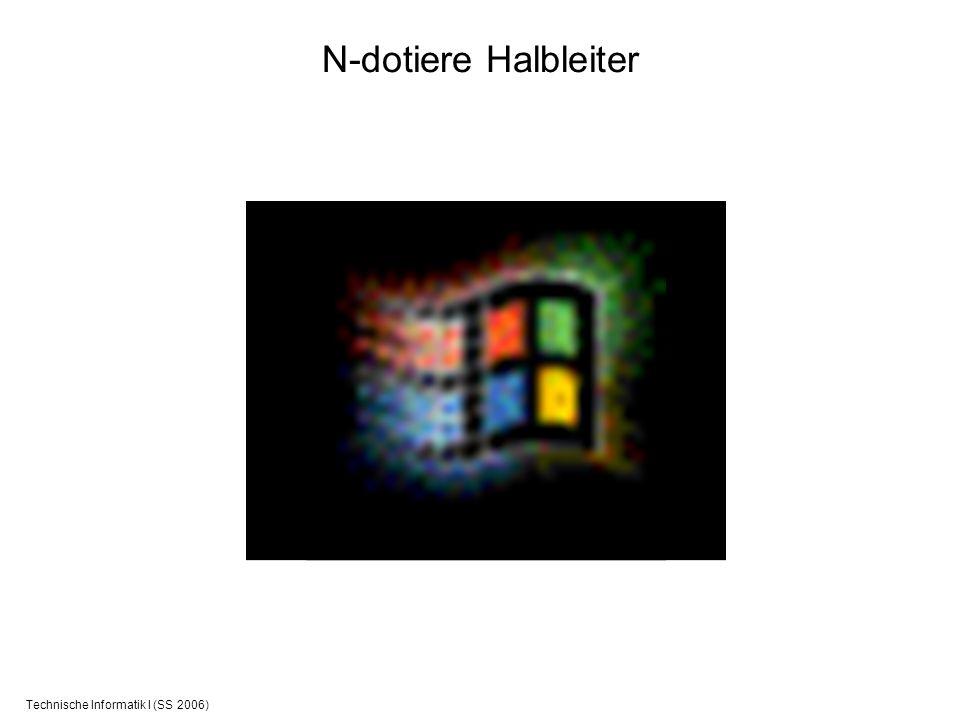 Technische Informatik I (SS 2006) N-dotiere Halbleiter