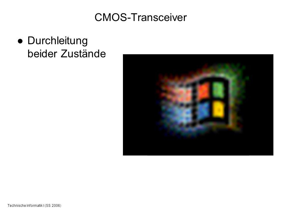 Technische Informatik I (SS 2006) CMOS-Transceiver Durchleitung beider Zustände