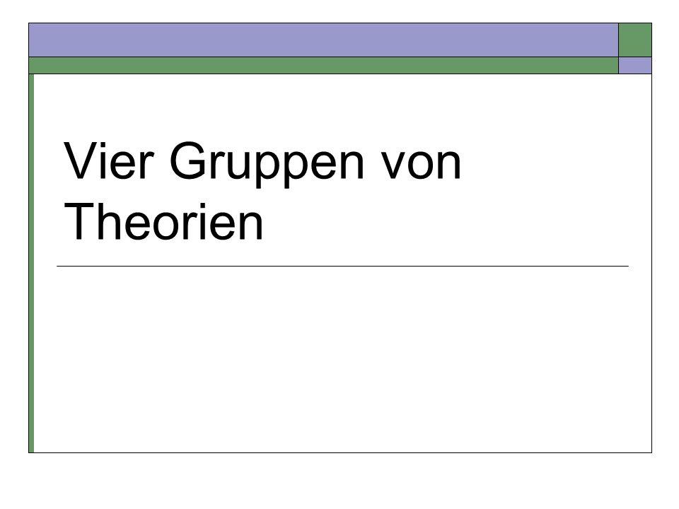 Vier Gruppen von Theorien