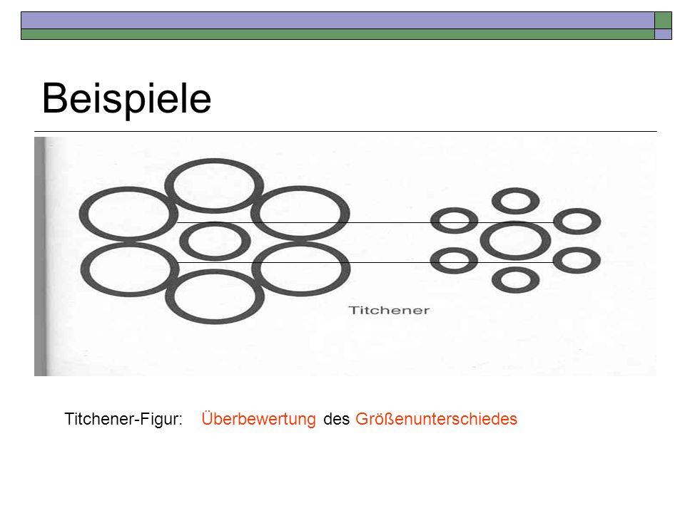 Beispiele Titchener-Figur:Überbewertung des Größenunterschiedes