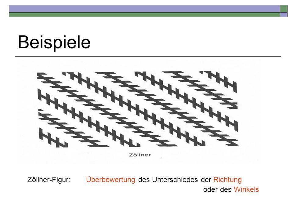 Zöllner-Figur:Überbewertung des Unterschiedes der Richtung oder des Winkels