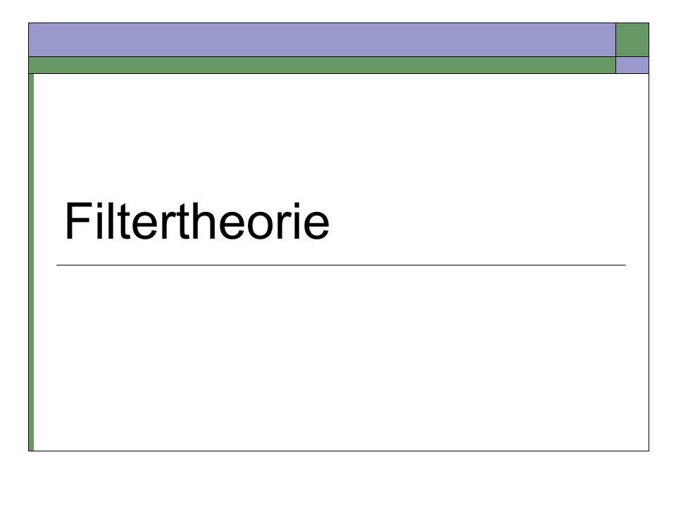 Filtertheorie
