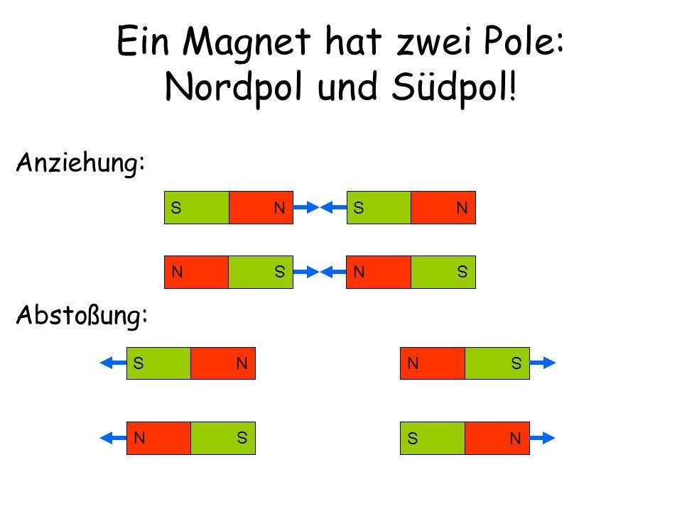 Wirkt ein Magnet auch aus der Ferne und durch Materialen hindurch.