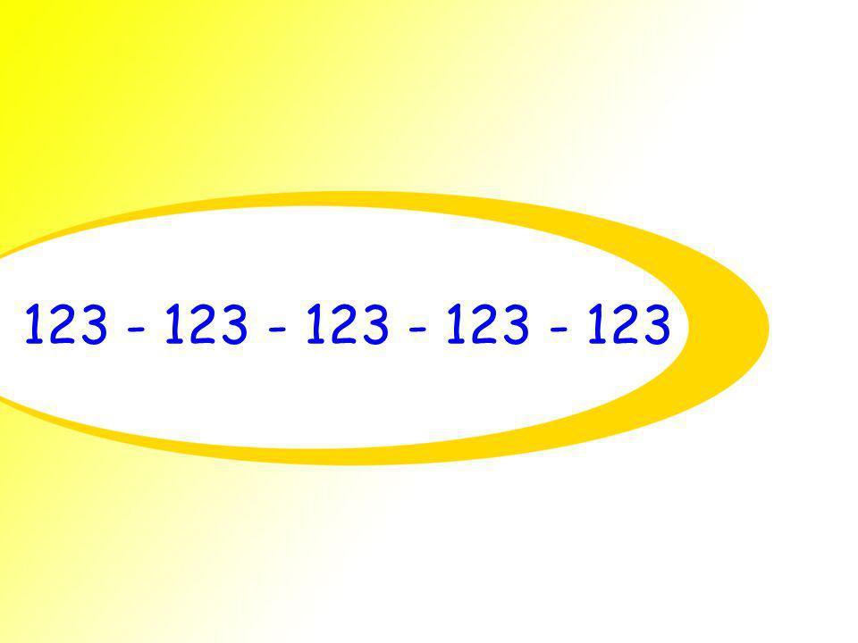 123 - 123 - 123 - 123 - 123
