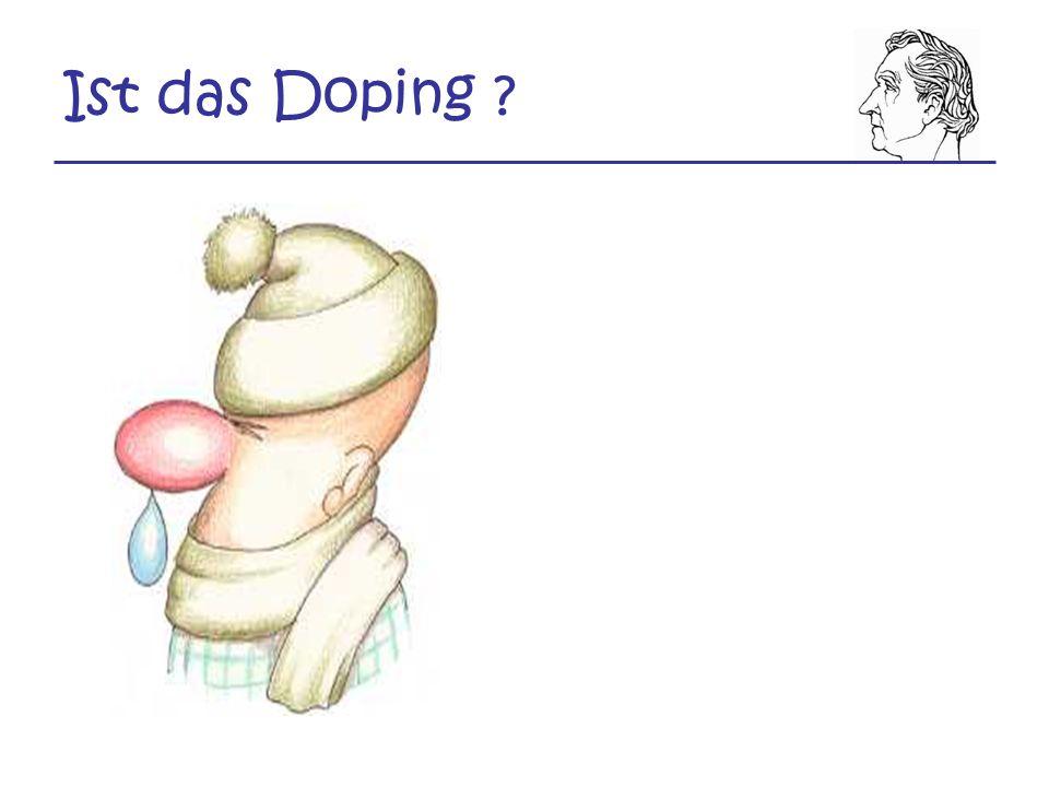Ist das Doping ?